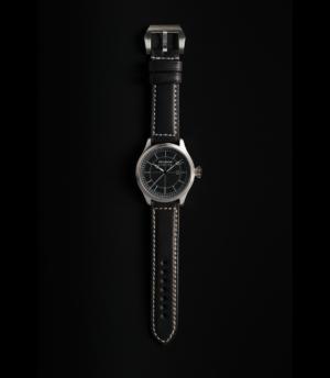 Pellikaan Timing Zwart Leren Horloge Bandje
