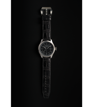 Pellikaan Timing Black Croco Leather Watchband