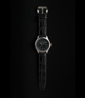 Pellikaan Timing Black Croco Leather Watchband