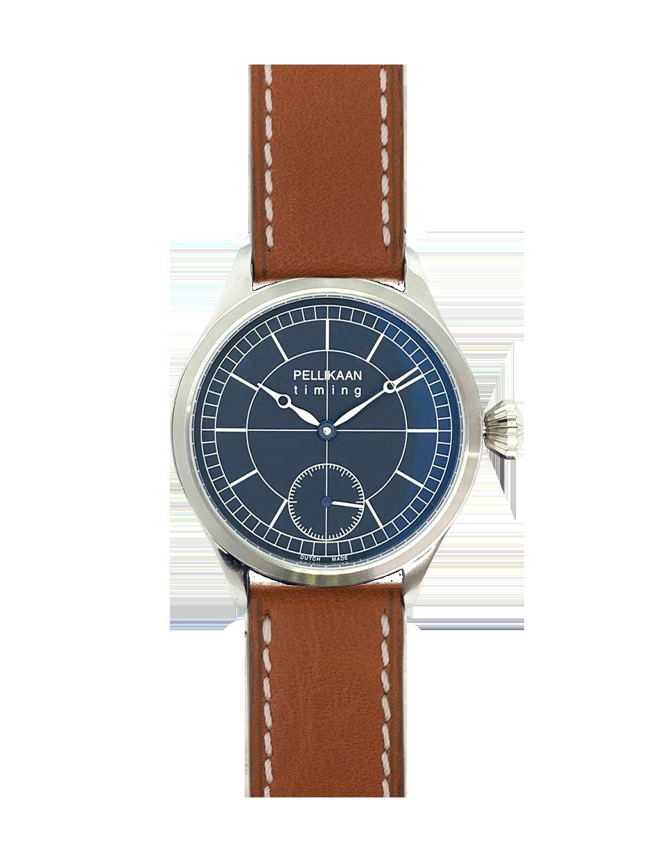 Pellikaan Timing Midnight Sky Heren Horloge Bruine Band