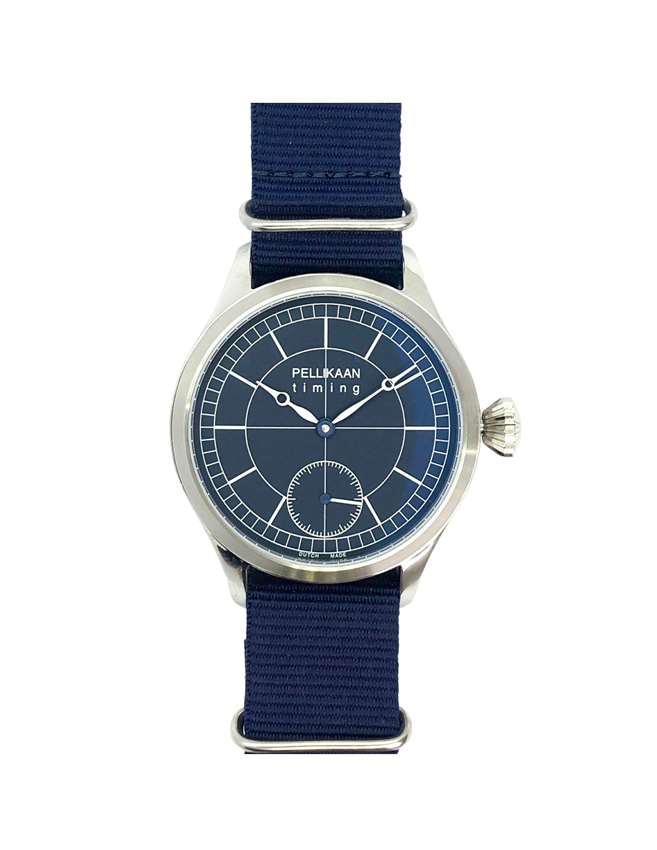 Pellikaan Timing Midnight Sky Heren Horloge Nato Band
