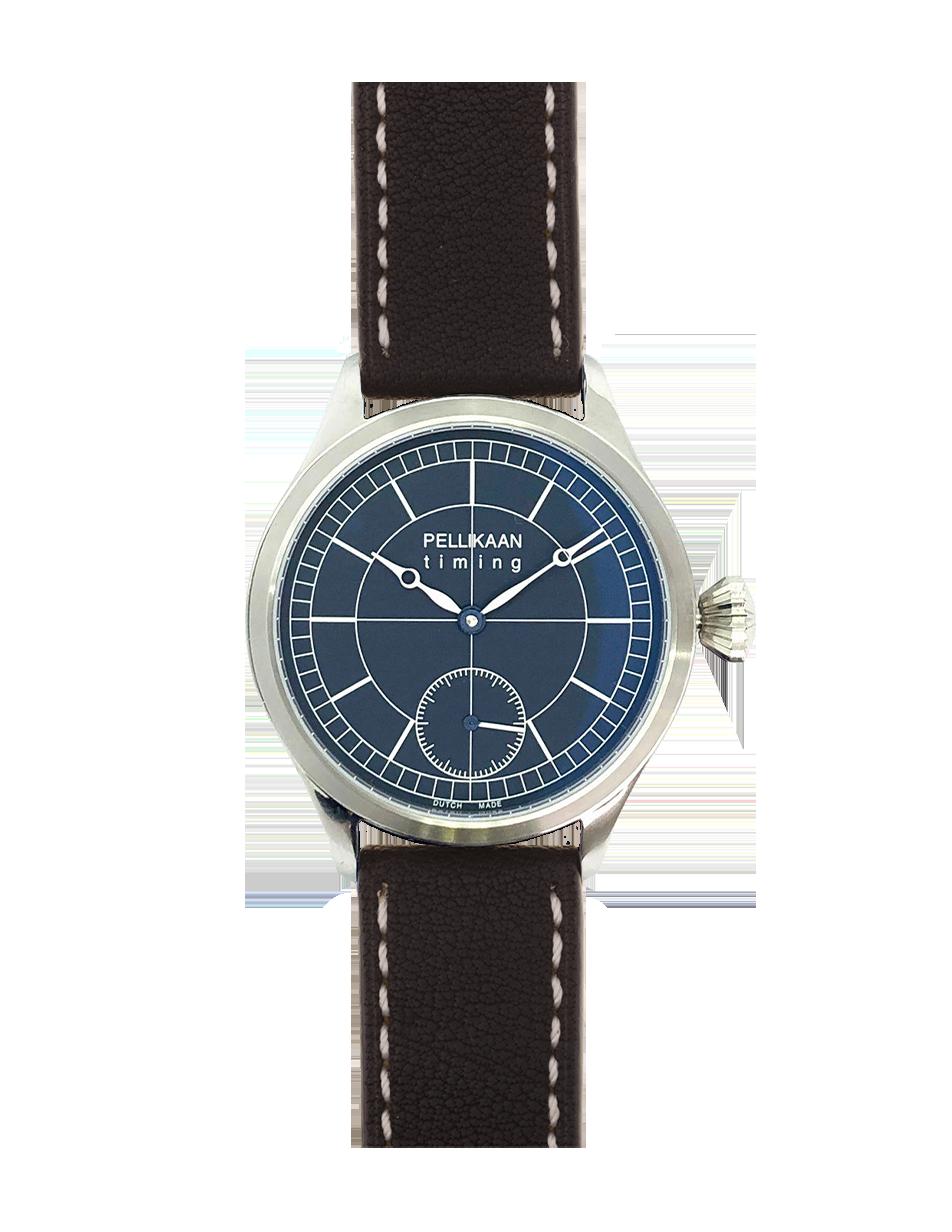 Pellikaan Timing Midnight Sky Heren Horloge Zwarte Band